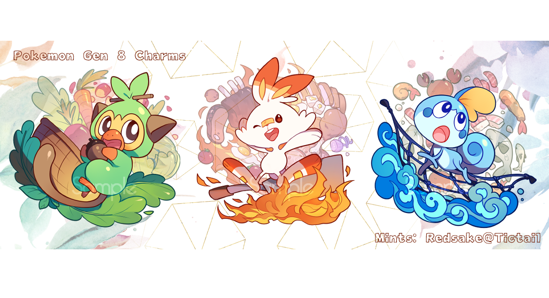 Pokemon Sword And Shield Starter Acrylic Charms Redsake Online