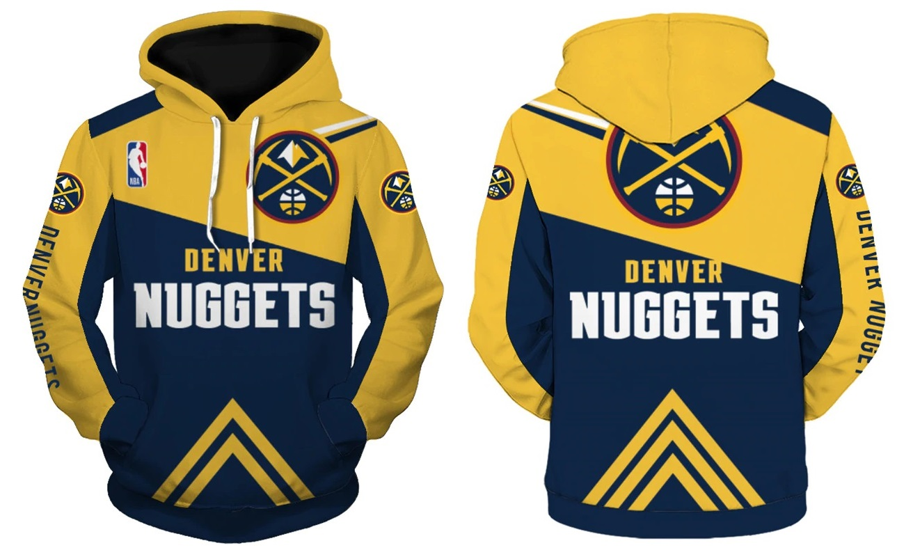 online retailer 7fe94 48c18 Denver Nuggets Hoodie NBA Basketball Sweatshirts New Season from SportsMegas