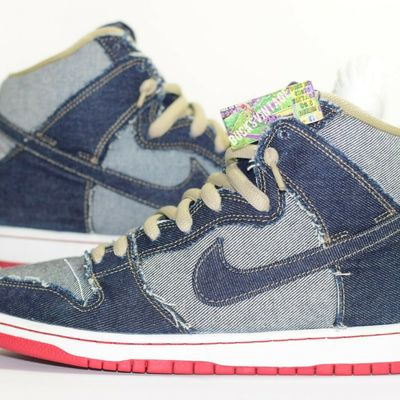 quality design 19dd7 9fd66 Size 10.5   2016 nike dunk sb trd reese denim high
