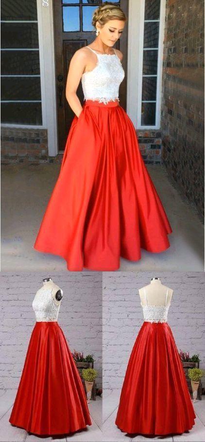 ee8afd02503 Elegant Spaghetti Straps Prom Dresses