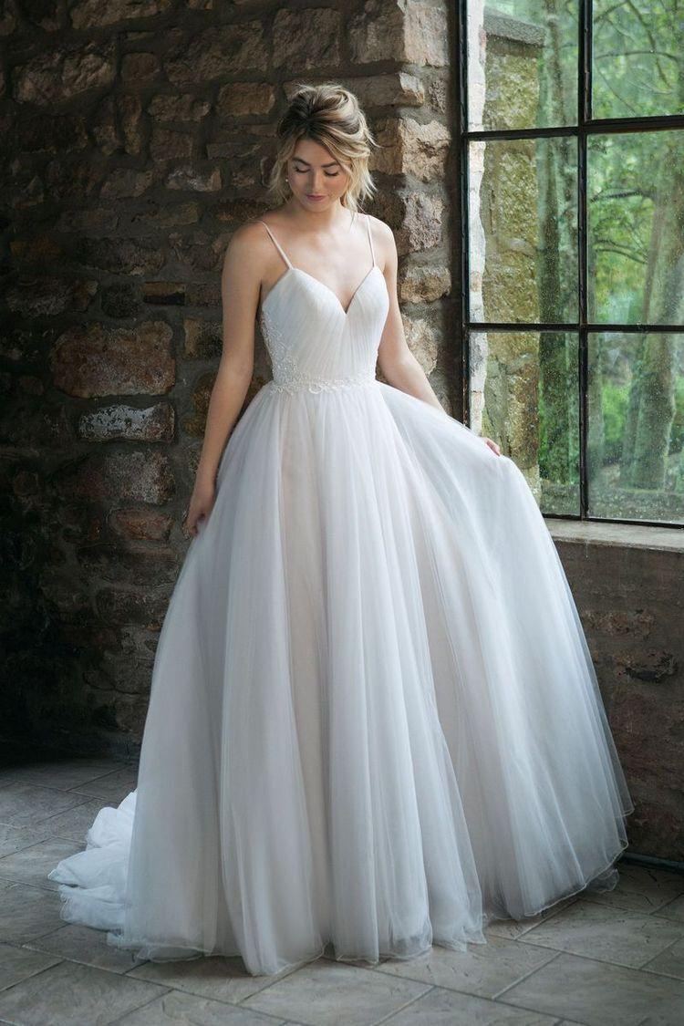 Ball Gown Tulle Wedding Dress Spaghetti Straps Wedding Gown From Sancta Sophia