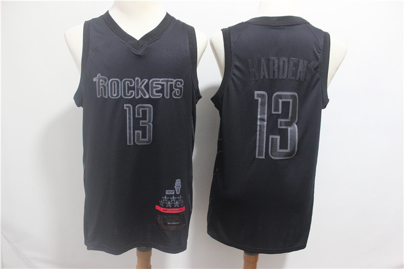 huge discount 7940f d7cf4 Men's Houston Rockets 13# James Harden Black MVP Basketball Jersey sold by  bookshi