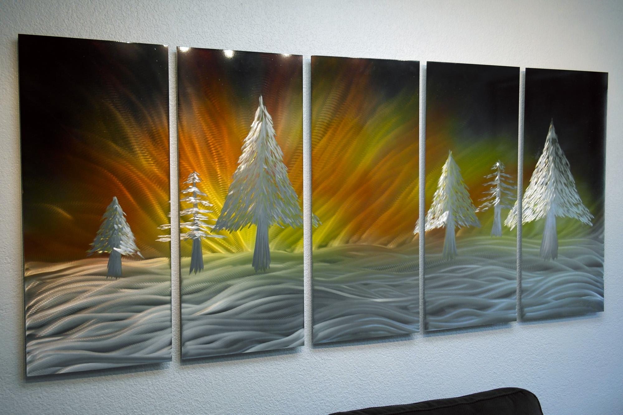 Wiinter Solstice 36x79 - Abstract Metal Wall Art Contemporary Modern Decor  from Inspiring Art Gallery