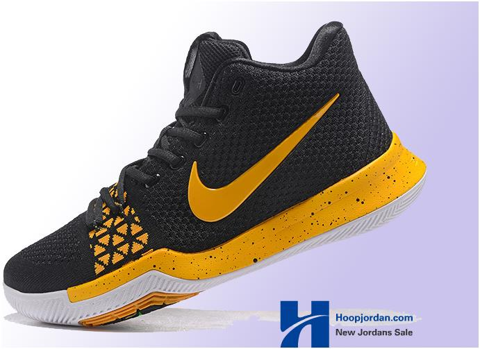 online store 3f886 f2157 Nike Kyrie 3 Black Yellow Men's Basketball Shoes from BELLDRESS