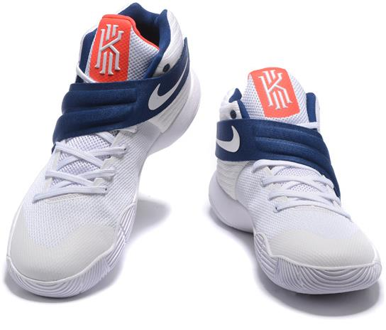 reputable site 7b569 97b7c Mens Basketball Shoe Nike Kyrie 2 4th of July White Blue from BELLDRESS