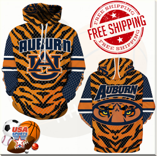 the latest d6201 9fa86 Auburn Tigers, Football Team Sport Hoodie (UNISEX) from USASPORTS