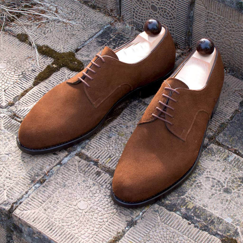 Men Suede Leather Shoes Dress Suede Shoes Handmade Oxford Suede Leather Shoes