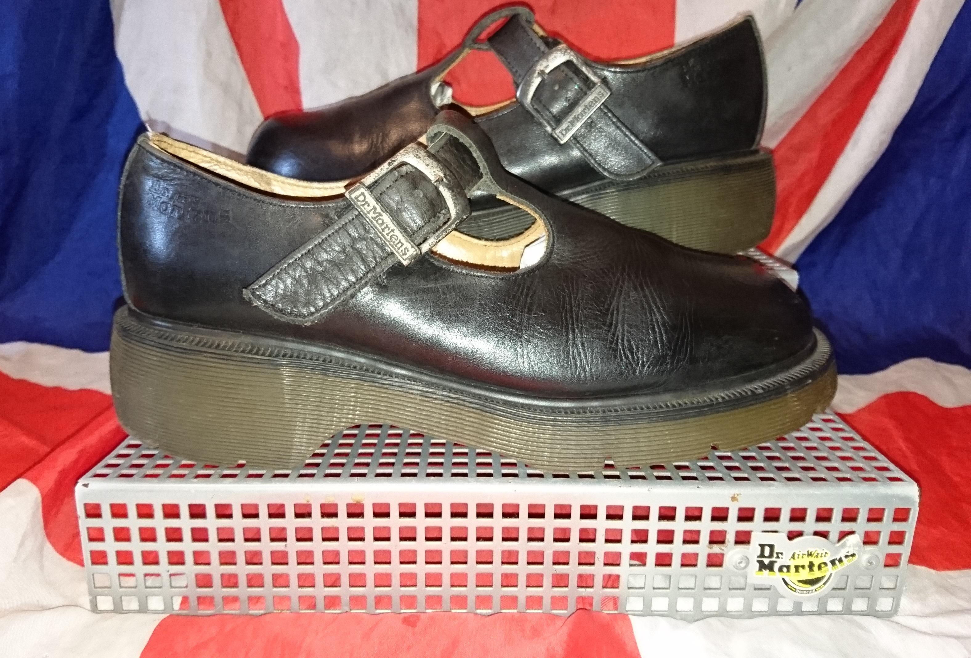 45eadfd116f96 England Vintage - Black T Bar Dr Doc Martens Chunky Mary Jane Shoes - UK  7*EU 41*USL 9 from Digital Docs