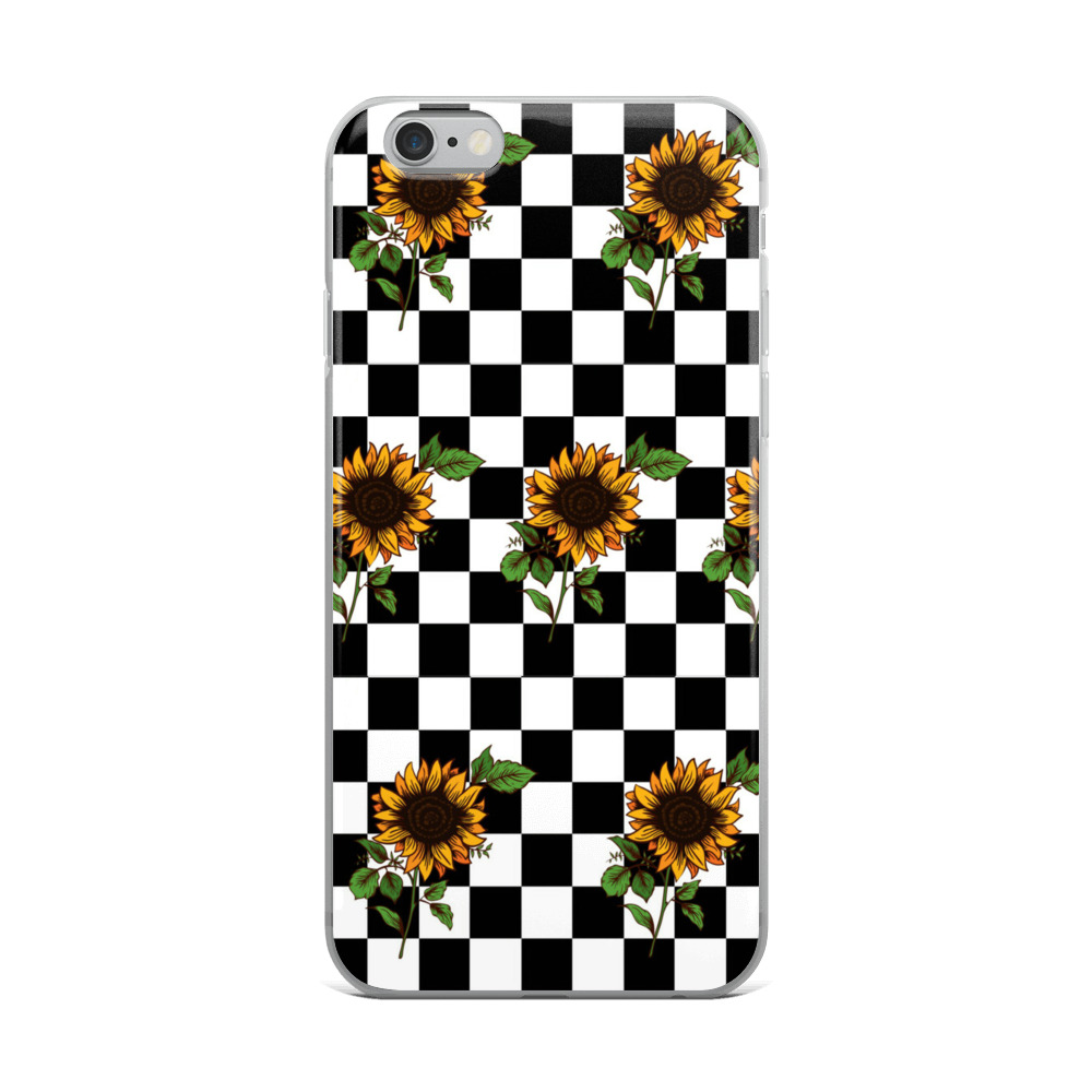 sports shoes 7086c 2f30f Checkered SunFlower iPhone Case , iPhone 8 Plus/8 Case iPhone 7/7 Plus Case  iPhone 6/6S Plus Case iPhone X/XS Case iPhone XR Case iPhone XS Max Case