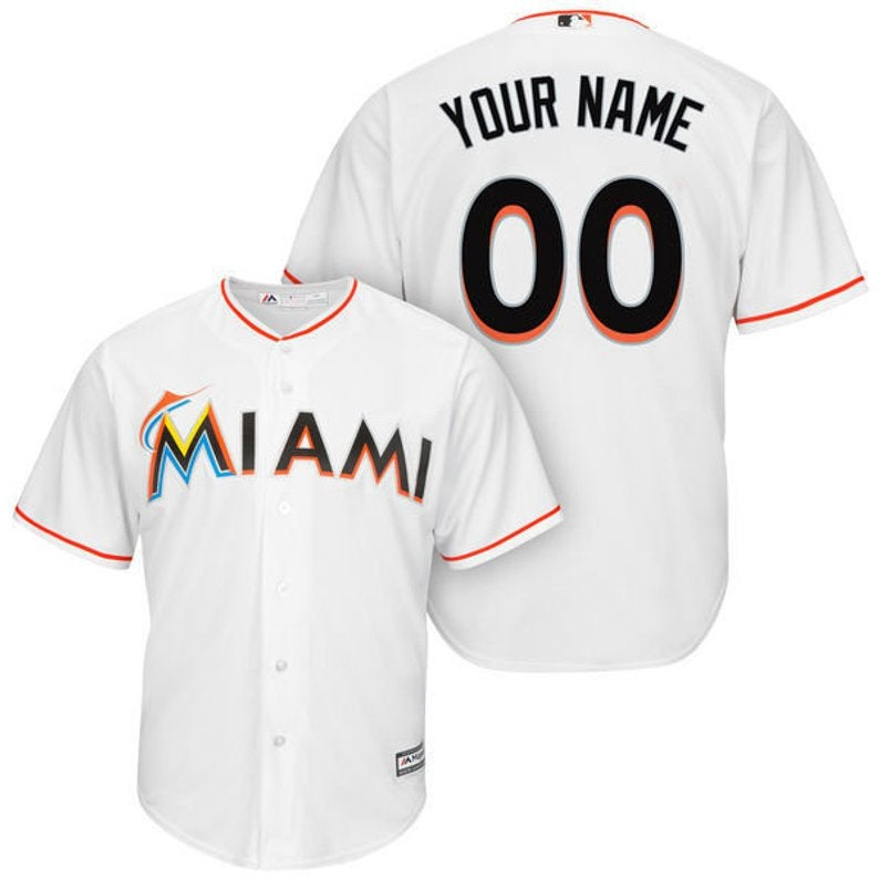 release date: 27e23 8fed5 Mens Miami Marlins Custom Name & number Cool Base Baseball Jersey 2019 from  New tuboshop