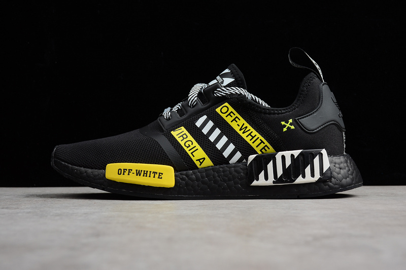 new product 079d4 730a4 OFF-WHITE X Adidas NMD Boost R1 Black runner shoes sold by ivicente