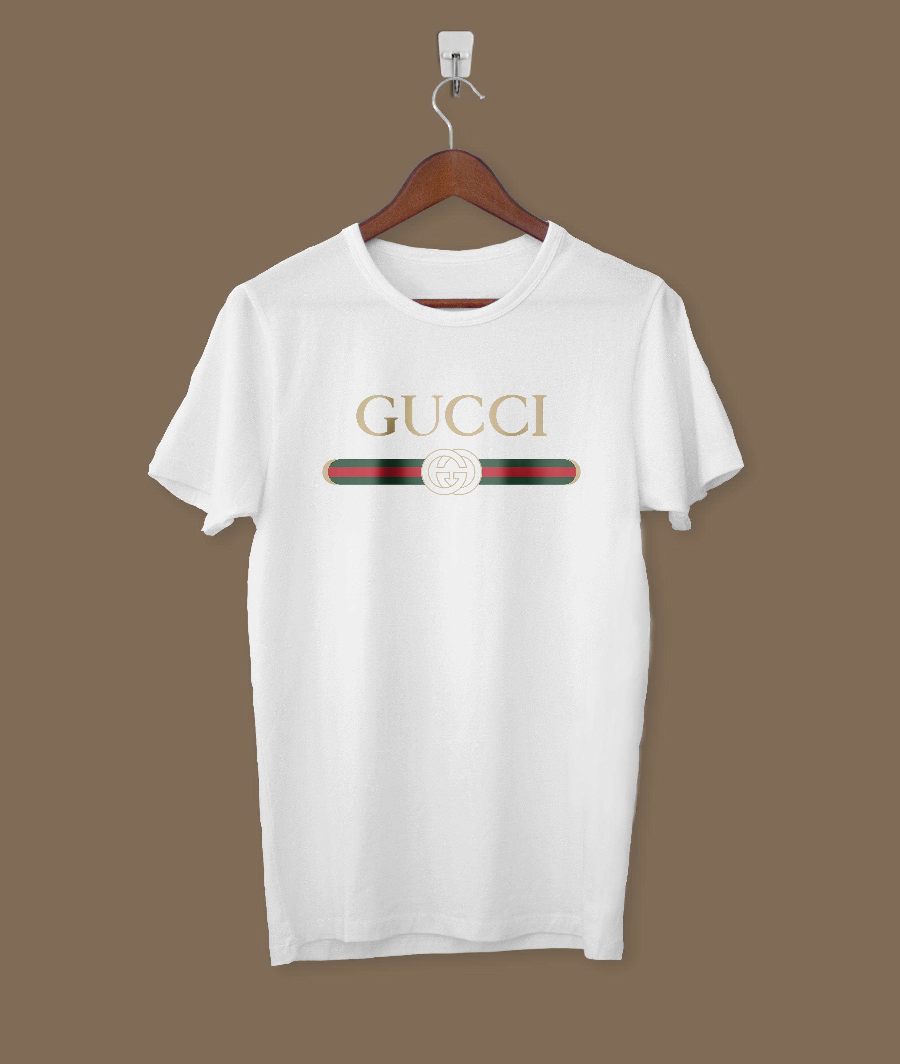 88990a5ffe Gucci Logo Shirt Men Women Tshirt Unisex Tee Black White S-3XL from ErLov