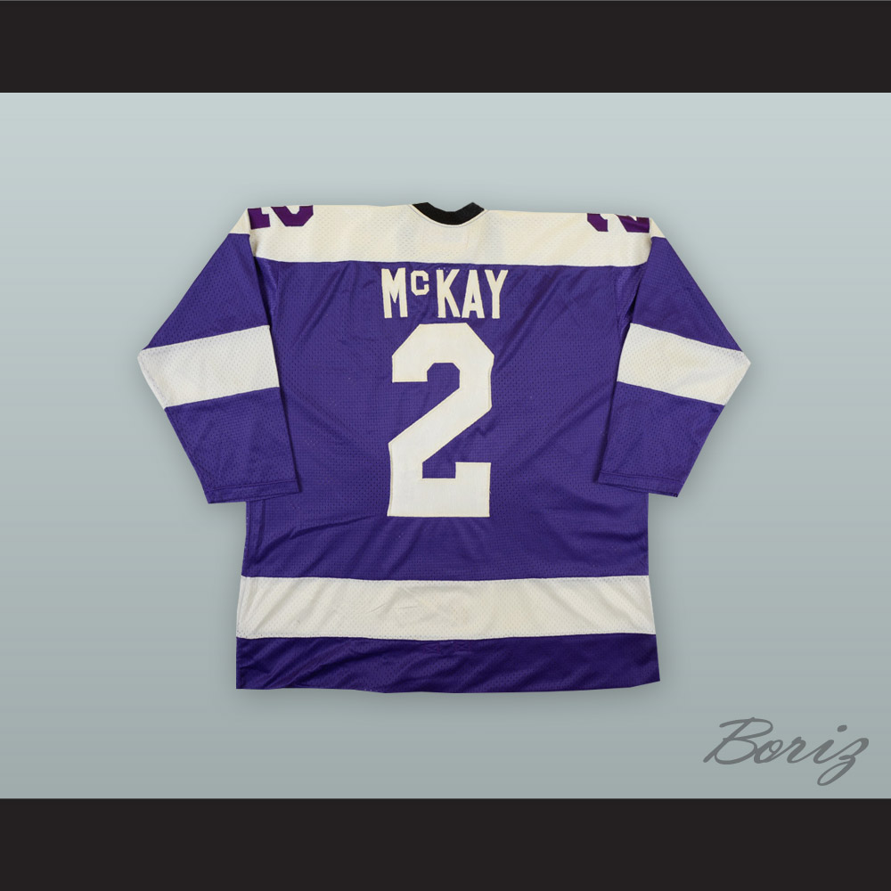 the latest 63252 850bd 1975-76 WHA Ray McKay 2 Cleveland Crusaders Purple Hockey Jersey from  acbestseller