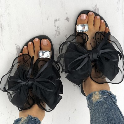 Women's cute bowtie decorate non-slip sandals g-2954