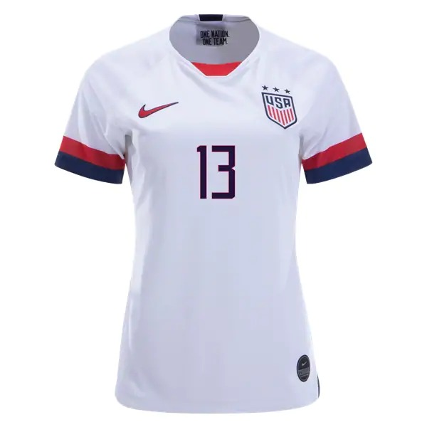 reputable site 55170 84c31 Alex Morgan 13 US Women's National Team Home Jersey 2019 USWNT Soccer  Stadium Shirt 4 Star WWC Streetwear from HoHo Jersey Collection