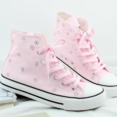 Strawberry pink sneakers g-2995
