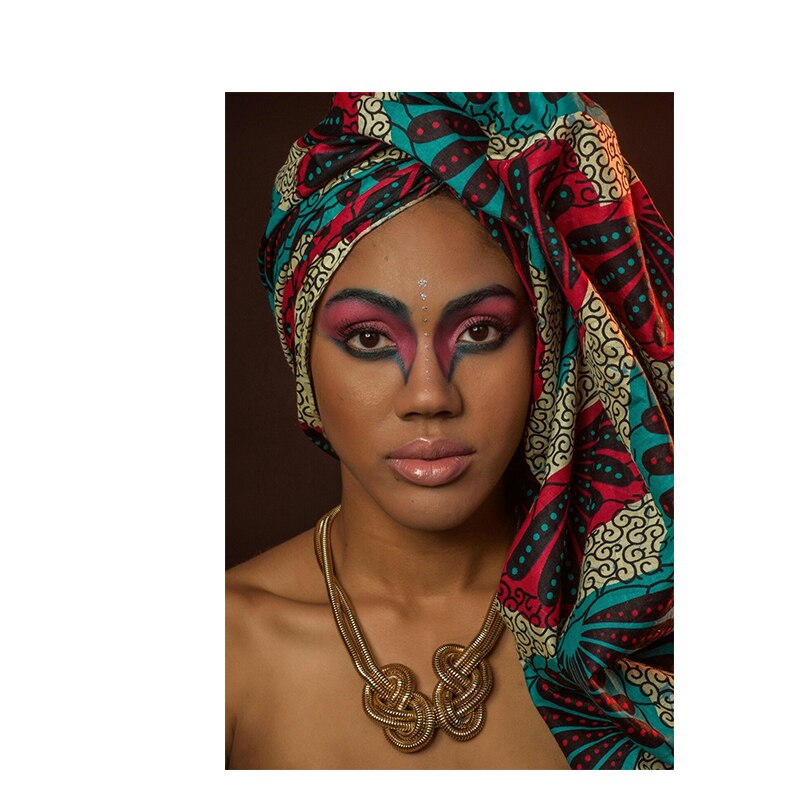 African Woman Portrait Nude Wall Art Print No.AW- 030006