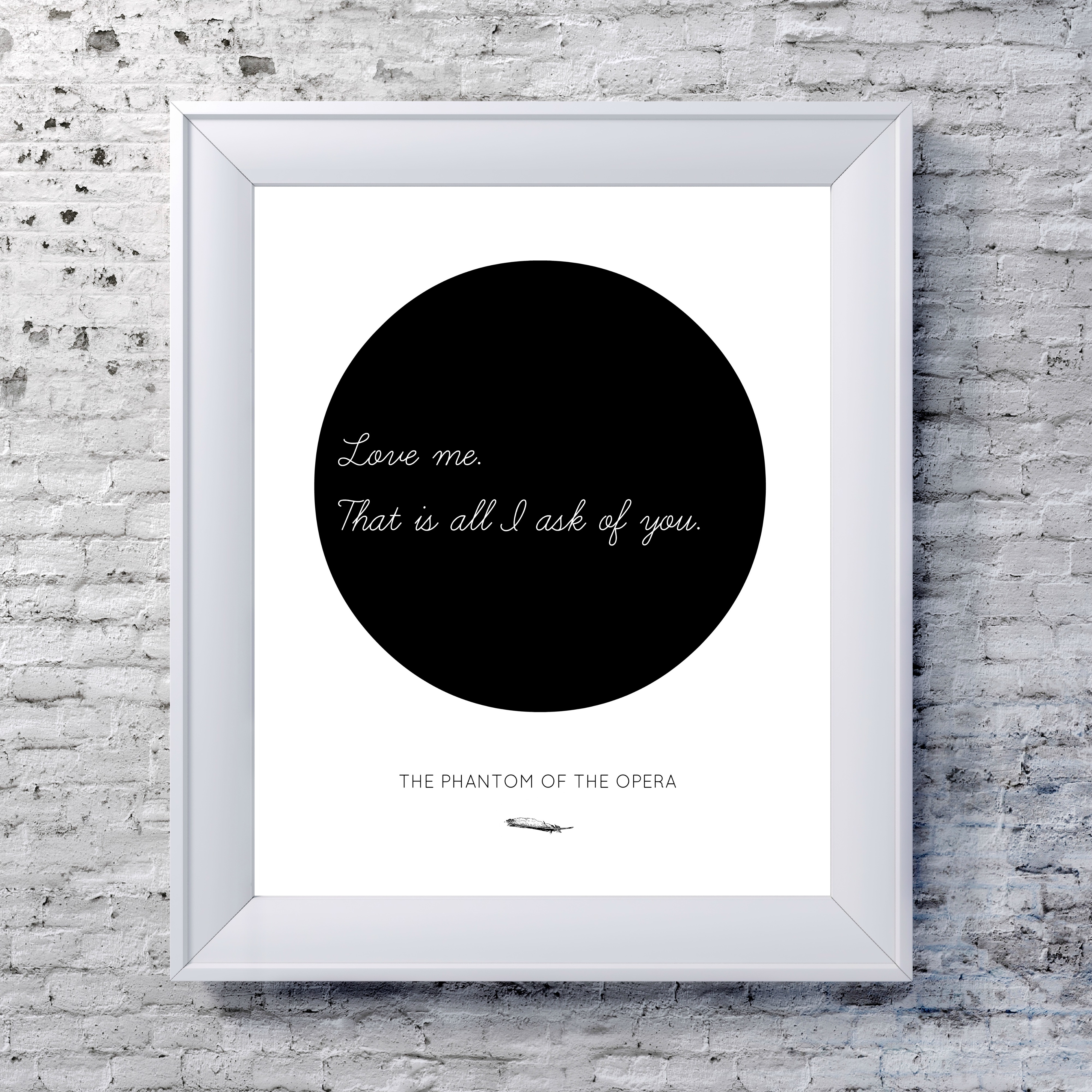 The Phantom of the Opera Poster - Circle Art Typography Print on ...