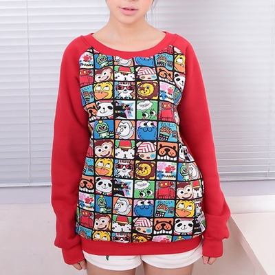 4d9f65058f38 Cartoon long sleeve sweatshirt