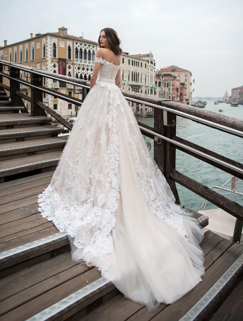 Romantic White Lace Wedding Dress,Off Shoulder A Line Bridal Dress ...