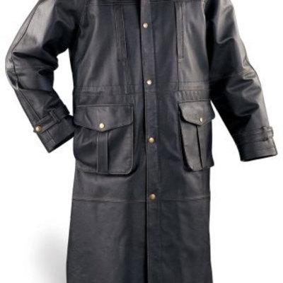 fc5ac018675 handmade Men Black long Leather Coat · leatherghar · Online Store Powered  by Storenvy