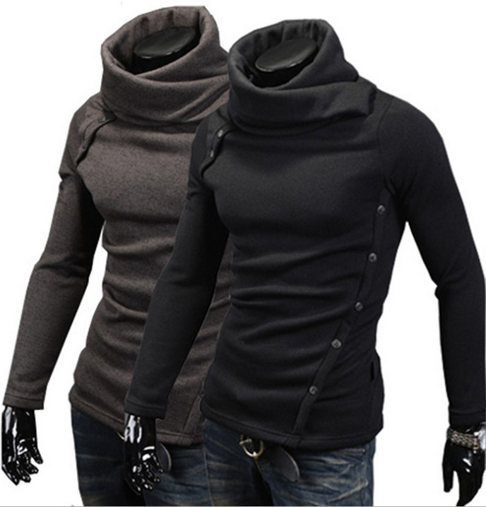 Stylish High Collar Pullover Hoodie Hooded Sweatshirt Coat Top For ...