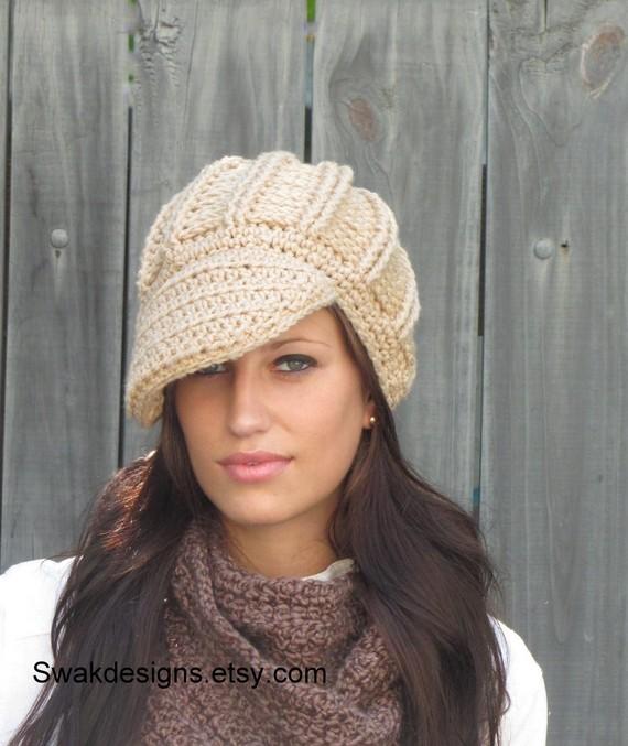 b8200733 ... NewsBoy Hat Textured Post Women's Oversized Newsboy Hat - Thumbnail ...