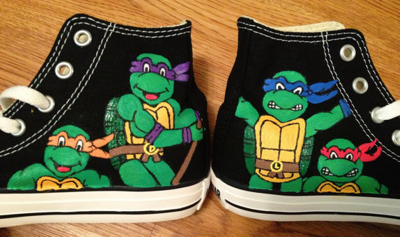 47aef7302a7f TMNT Hand Painted Converse Shoes on Storenvy