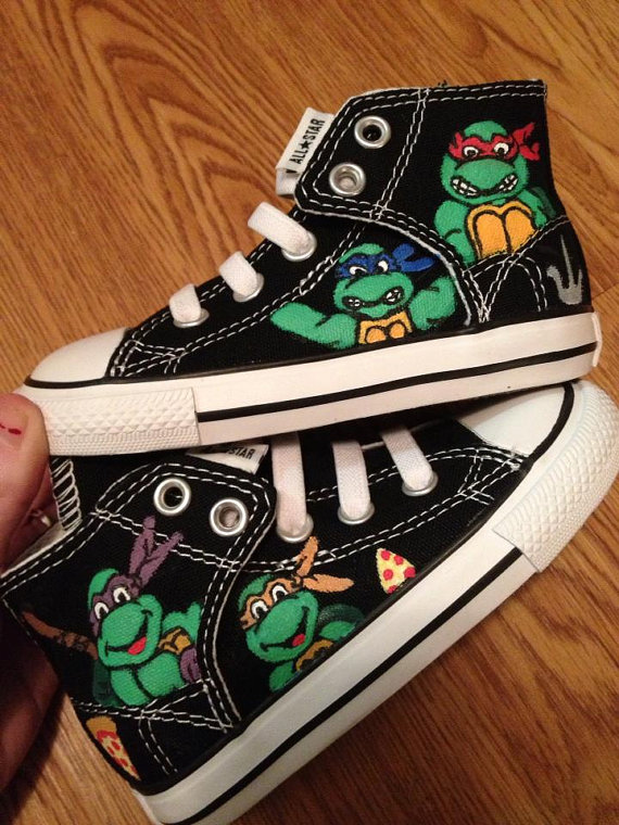 467760a9529a TMNT Hand Painted Converse Shoes on Storenvy