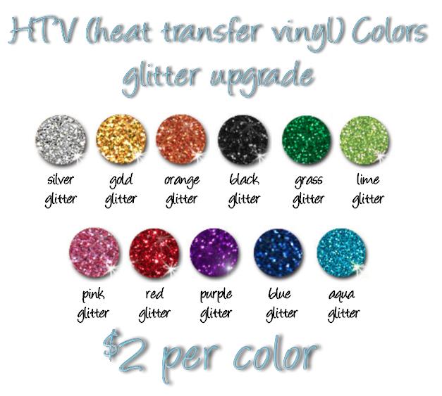 HTV (heat transfer vinyl) Glitter Upgrade · aamsmomdesigns ...